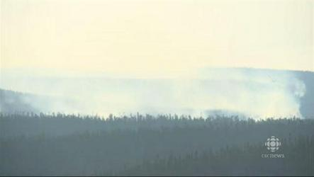 Smoke from a forest fire has prompted officials to order an evacuation of the western Labrador community of Wabush.
