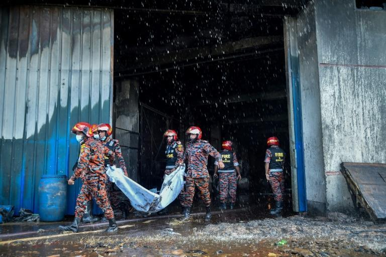 Police initially gave a toll of three dead but it rose dramatically as firefighters reached the upper floors