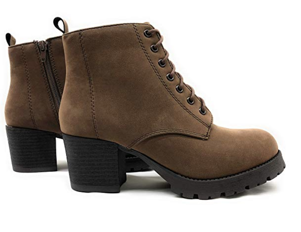 """<br><br><strong>Soda</strong> Nevitt Faux Leather Chunky Boot, $, available at <a href=""""https://www.amazon.com/SODA-Womens-Nevitt-Leather-Chunky/dp/B07HQZ9FN7"""" rel=""""nofollow noopener"""" target=""""_blank"""" data-ylk=""""slk:Amazon"""" class=""""link rapid-noclick-resp"""">Amazon</a>"""