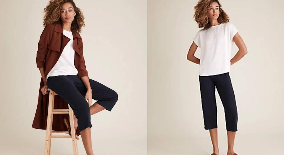 The £9.50 M&S cropped joggers you need for summer. (Marks & Spencer)