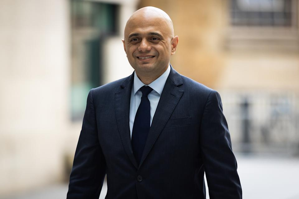 Sajid Javid is seen at BBC Broadcasting House prior to appearing on the Andrew Marr Show in London. (Photo by Tejas Sandhu / SOPA Images/Sipa USA)