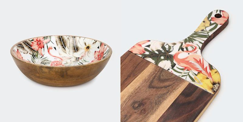 """Fans were quick to comment that they """"needed"""" the collection which includes this bowl and board. Photo: Kmart"""