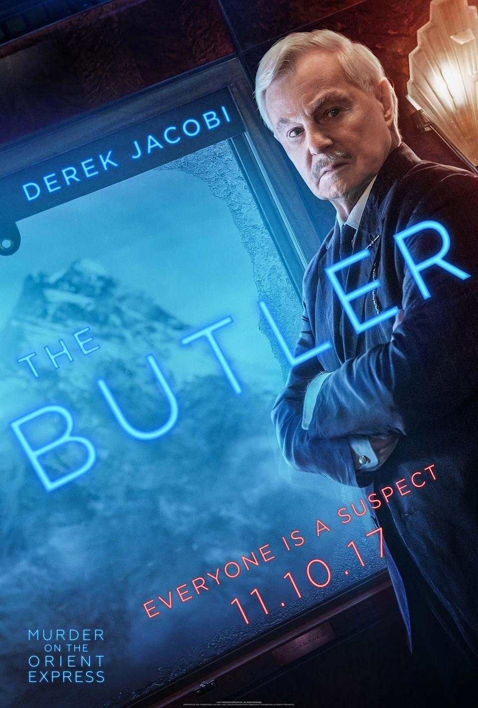 "<p>Jacobi plays Depp's character's butler, who has a spiky relationship with his boss. ""He's a capable fellow and holds his cards close to his chest,"" Branagh says</p>"