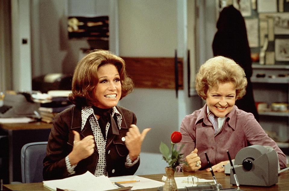 <p>In 1973, White began appearing on <em>The Mary Tyler Moore Show</em> as Sue Ann Nivens. </p>
