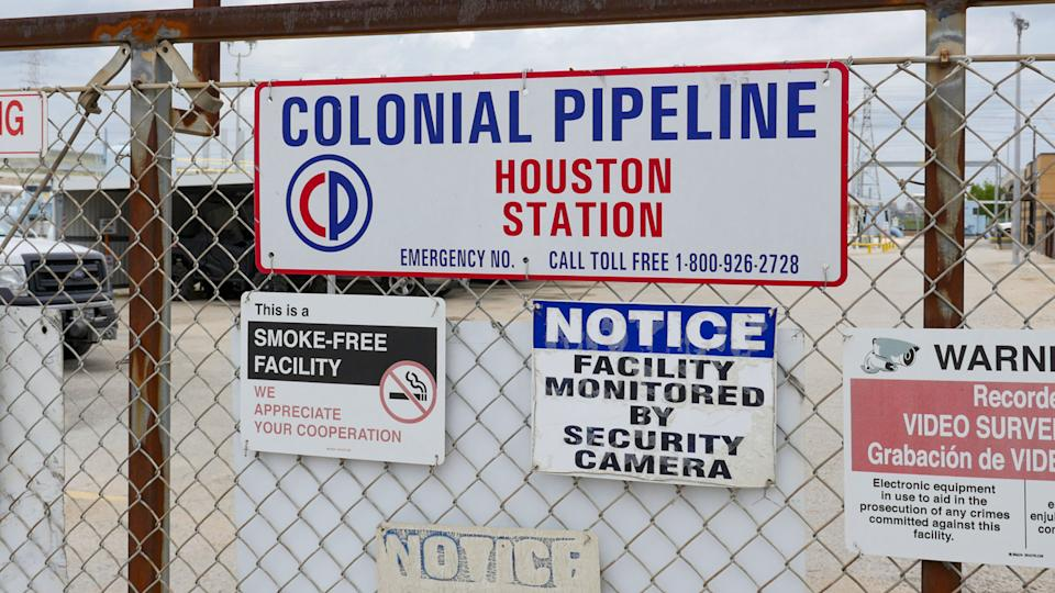 Image showing the Colonial Pipeline Houston Station facility in Pasadena, Texas (East of Houston) taken on May 10, 2021. (Francois Picard/AFP via Getty Images)
