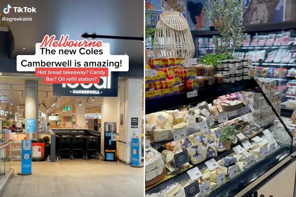 Coles Local supermarket in Camberwell, Melbourne. Source: TikTok/@agreekable.