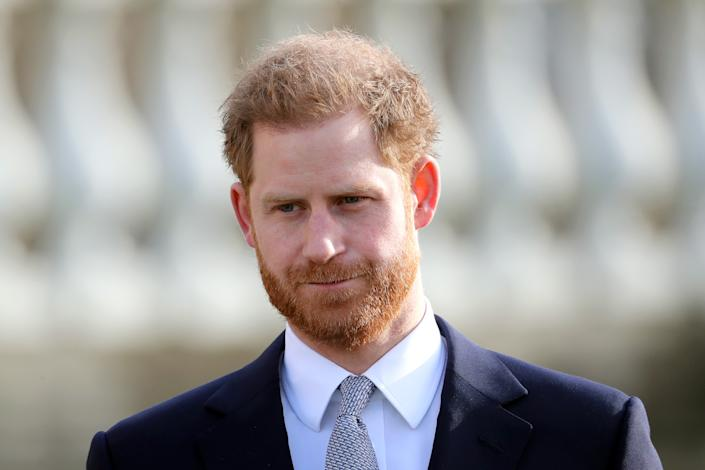 Prince Harry, Duke of Sussex, pictured at Buckingham Palace today. [Photo: Getty]