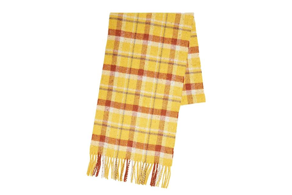 "$325, Todd Snyder. <a href=""https://www.toddsnyder.com/collections/sale/products/drakes-vintage-checks-scarf-yellow-yellow"" rel=""nofollow noopener"" target=""_blank"" data-ylk=""slk:Get it now!"" class=""link rapid-noclick-resp"">Get it now!</a>"