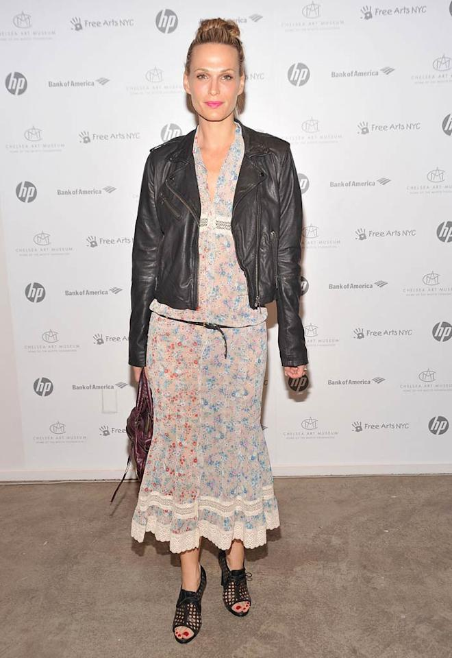 """Apparently, Molly Sims was feeling a little bit country <i>and</i> a little bit rock 'n' roll! Gary Gershoff/<a href=""""http://www.wireimage.com"""" target=""""new"""">WireImage.com</a> - May 17, 2011"""