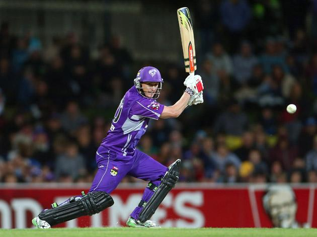 George Bailey of the Hurricanes bats during the Big Bash League match between the Hobart Hurricanes and the Perth Scorchers at Blundstone Arena on January 1, 2013 in Hobart, Australia.  (Photo by Robert Cianflone/Getty Images)
