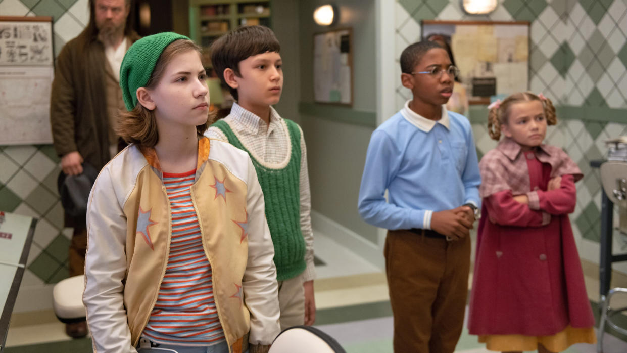Gifted orphans are recruited to save the world in 'The Mysterious Benedict Society'. (Diyah Pera/Disney)