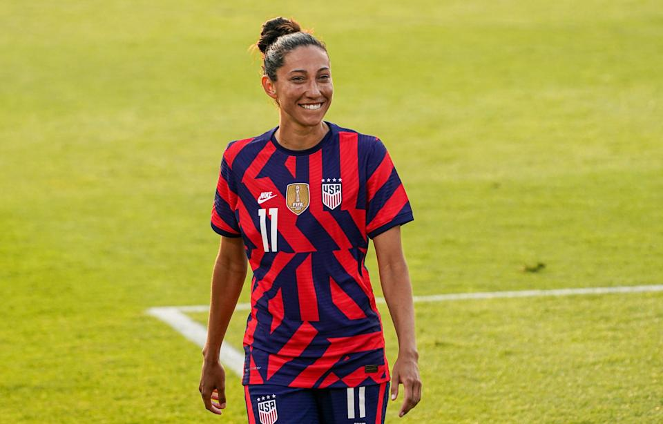 Christen Press has scored 63 goals in 155 appearances during her USWNT career.