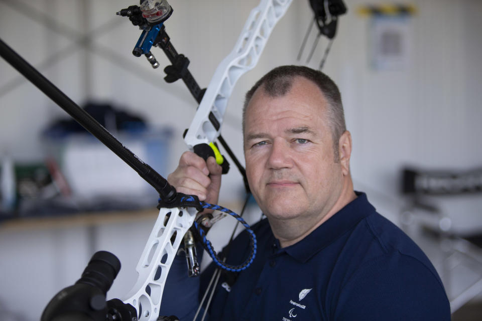 Archer John Stubbs, 56, is the oldest member of the ParalympicsGB squad (Picture: imagecomms)