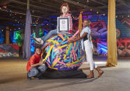 <p>With a weight of 907.18kg (2,000lbs), this ball of tape has a circumference of 12.9 feet and was completed in Louisville, Kentucky. (PA) </p>