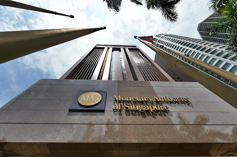 A general view shows the Monetary Authority of Singapore (MAS) building in Singapore on April 14, 2016. - Emerging market currencies went into a tailspin on April 14 as the Singapore central bank's surprise decision to loosen monetary policy ignited fears about Asia's developing economies, sending shudders across the region. (Photo by ROSLAN RAHMAN / AFP) (Photo credit should read ROSLAN RAHMAN/AFP/Getty Images)