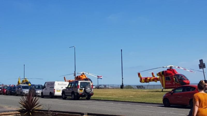 Air ambulance on the scene at Clacton Pier (DANIEL KINGHAM)