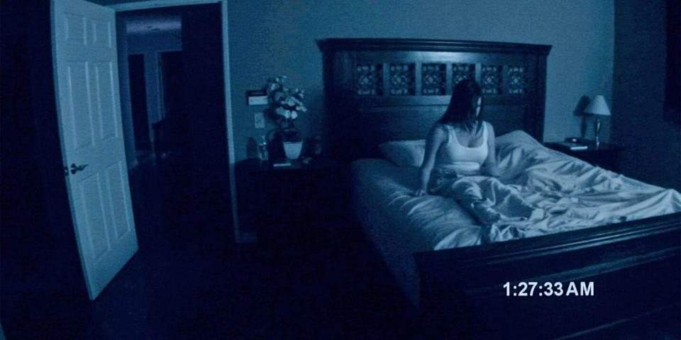 """<p>You've seen Oren Peli's security-cam horror a hundred times—and a hundred more with your eyes closed. But no matter the viewing volume, the preliminary possession that launched a paranormal franchise still leaves a mark. In the very first film, we're introduced to Katie and Micah, the couple who catch the deeply frightening things happening in their home on security footage. <a class=""""link rapid-noclick-resp"""" href=""""https://www.amazon.com/gp/video/detail/B003201P8G/ref=atv_dl_rdr?tag=syn-yahoo-20&ascsubtag=%5Bartid%7C10056.g.10247453%5Bsrc%7Cyahoo-us"""" rel=""""nofollow noopener"""" target=""""_blank"""" data-ylk=""""slk:Watch Now"""">Watch Now</a></p>"""