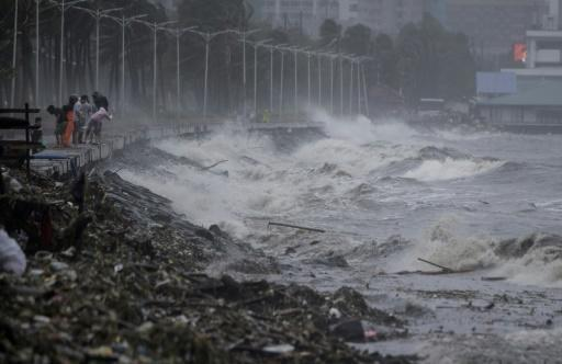 Mangkhut forced thousands to flee their homes and seek temporary shelter from powerful winds and heavy rains