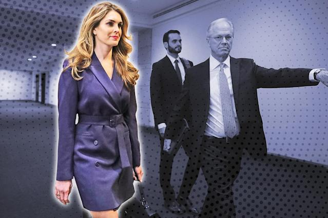 Hope Hicks on Feb. 27, 2018, in Washington, D.C. (Photo: Getty Images; Casey Hollister for Yahoo Lifestyle)