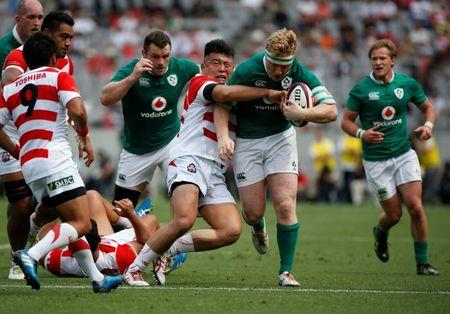 Rugby Union - Japan v Ireland - Ajinomoto Stadium, Tokyo, Japan - June 24, 2017 - Ireland's James Tracy in action. REUTERS/Issei Kato