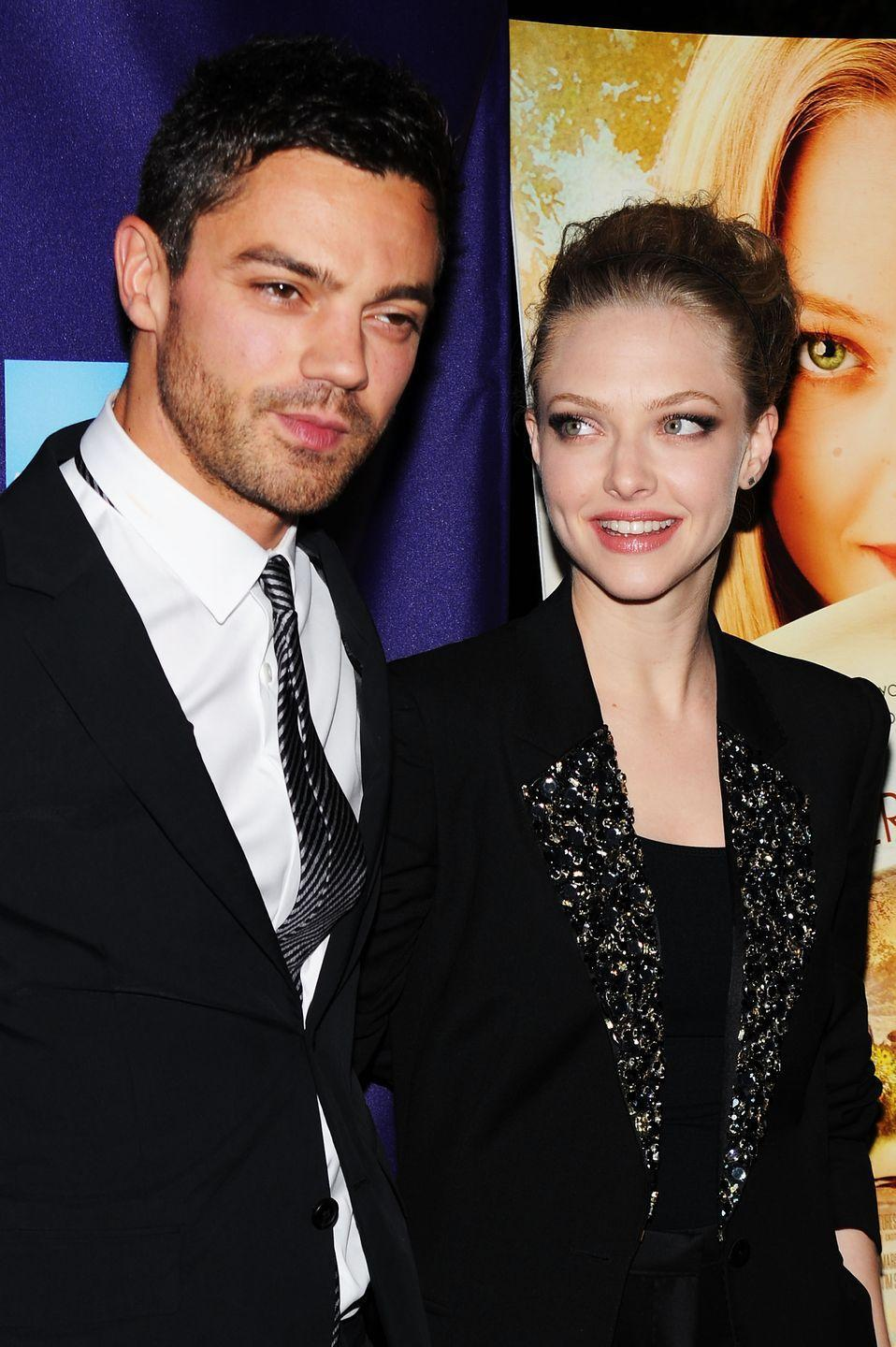 """<p>Seyfried and Cooper fell for one another on the set of <em>Mamma Mia </em>in 2007 and dated for three years before splitting. The former flames reunited in 2018 to film <em>Mamma Mia 2 </em>and it sounds like there are no hard feelings: """"We knew we were going to be working together [again] on set, going back to a part, which was certainly going to remind us of 10 years earlier,"""" Cooper told <a href=""""https://attitude.co.uk/article/dominic-cooper-and-zander-hodgson-cover-attitudes-august-issues/18538/"""" rel=""""nofollow noopener"""" target=""""_blank"""" data-ylk=""""slk:Attitude Magazine"""" class=""""link rapid-noclick-resp""""><em>Attitude Magazine</em></a>. """"It was a pleasant atmosphere. It was really interesting to see how different our lives are after 10 years<em>.""""</em></p>"""