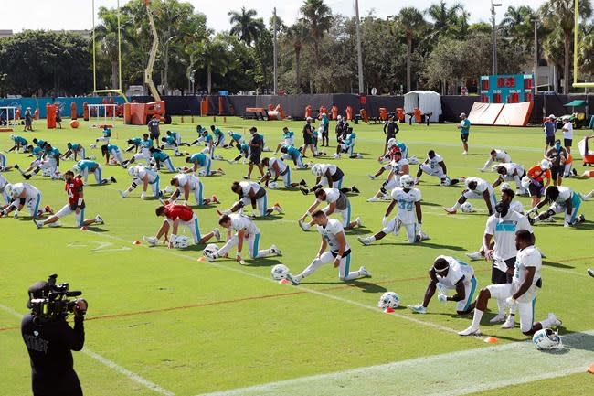 Dolphins LB Biegel sidelined with torn Achilles tendon