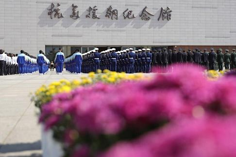 The opening ceremony is held for the Memorial Hall of the War to Resist US Aggression and Aid Korea. Photo: Xinhua