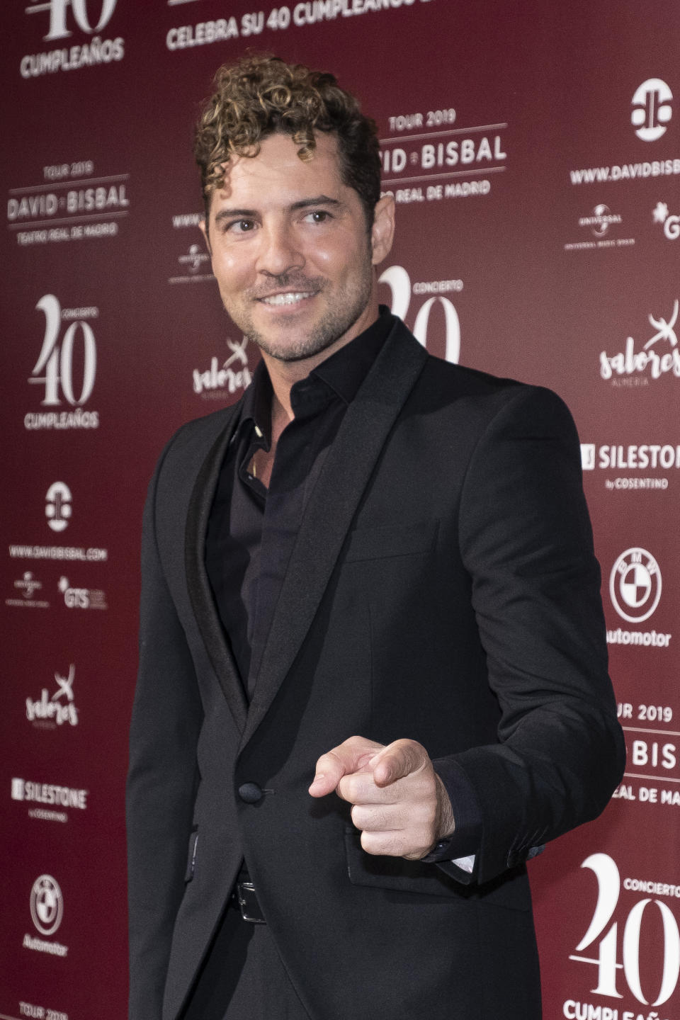 David Bisbal attends a photocall before David Bisbal concert at Royal Theatre on June 05, 2019 in Madrid, Spain. David Bisbal has organized a concert to celebrate his 40th birthday (Photo by Oscar Gonzalez/NurPhoto via Getty Images)