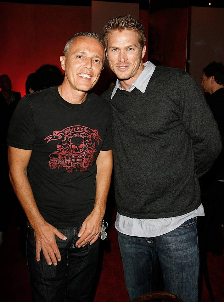 """""""Sex and the City"""" hunk Jason Lewis still has his chiseled good looks. Donato Sardella/<a href=""""http://www.wireimage.com"""" target=""""new"""">WireImage.com</a> - May 13, 2008"""