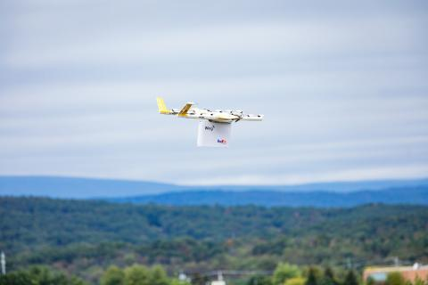 Drones drop packages on Virginia lawns in first-ever USA  delivery