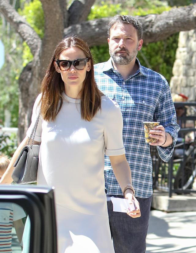 Jennifer Garner and Ben Affleck after announcing plans to divorce. (Photo: BG004/Bauer-Griffin/GC Images)