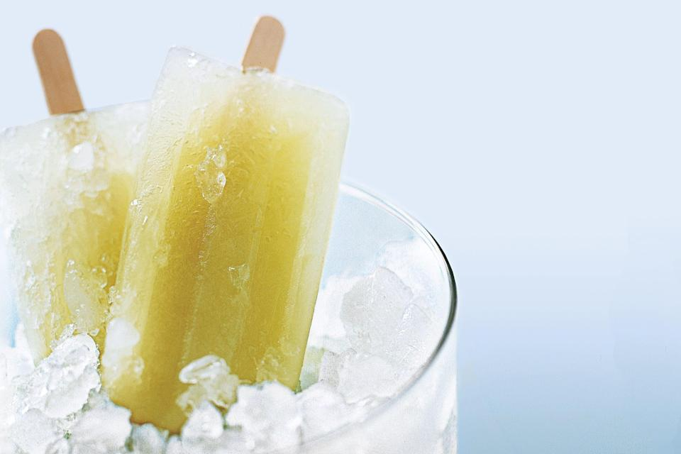 """The yield for these pops depends on the size of your molds — you could use anything from paper cups to store-bought specialty molds. <a rel=""""nofollow noopener"""" href=""""https://www.epicurious.com/recipes/food/views/honeydew-lime-popsicles-109662?mbid=synd_yahoo_rss"""" target=""""_blank"""" data-ylk=""""slk:See recipe."""" class=""""link rapid-noclick-resp"""">See recipe.</a>"""