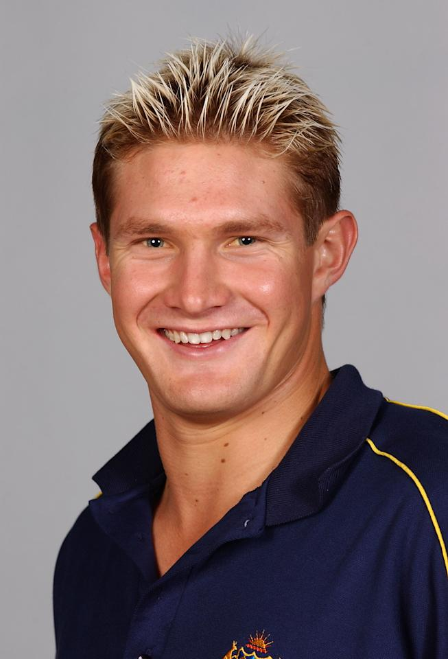 BRISBANE-JUNE 5:  Shane Watson of Australia poses for a headshot, during a photo call in Brisbane, Australia on June 5, 2002. (Photo: Darren England/Getty Images).