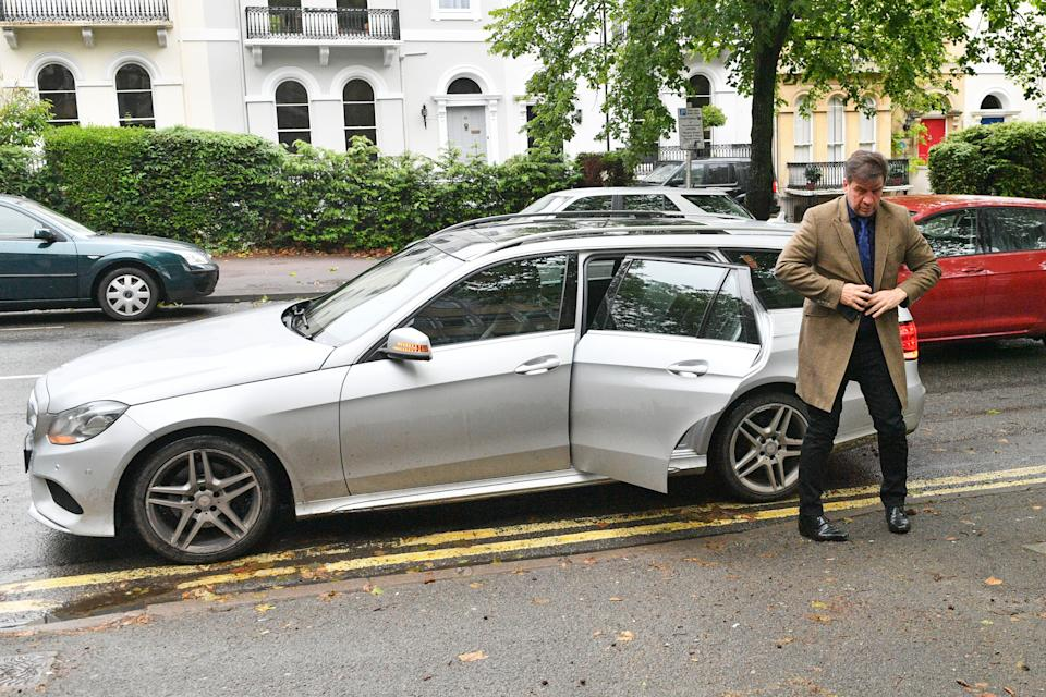 Nick Knowles arrives at Cheltenham Magistrates' Court, Cheltenham where he is due to appear on charges of driving while using a mobile phone and speeding.