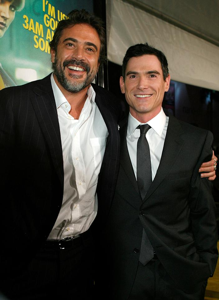 "<a href=""http://movies.yahoo.com/movie/contributor/1800162296"">Jeffrey Dean Morgan</a> and <a href=""http://movies.yahoo.com/movie/contributor/1800019546"">Billy Crudup</a> at the Los Angeles premiere of <a href=""http://movies.yahoo.com/movie/1808406490/info"">Watchmen</a> - 03/02/2009"