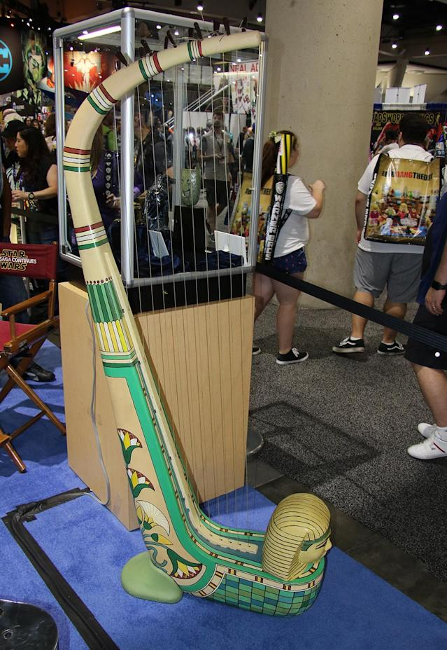 <p>Musical instrument used in <em>Cleopatra</em> (Photo: Giana Mucci/Yahoo) </p>