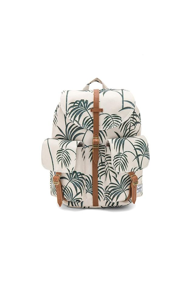 """<p>Seasoned travelers like your mom know that a backpack is one of the most practical accessories—and if hers has a fun palm print like this one, you won't be totally embarrassed by her gear. <em>(Herschel Supply Co. Dawson Backpack, $65, <a rel=""""nofollow"""" href=""""http://www.revolve.com/herschel-supply-co-dawson-backpack/dp/HERS-WY40?d=Womens&itcurrpage=1&itrownum=4&itview=01&lc=12&mbid=synd_yahoostyle&page=1"""">Revolve</a>)</em></p>"""