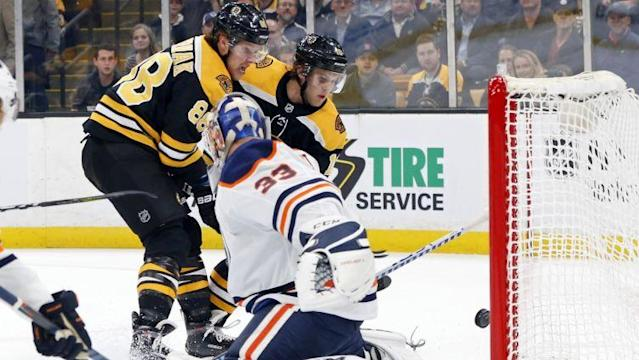<p>David Pastrnak has four goals in four games, the lastest an absolute beauty against the Oilers. In a game against Edmonton's star Connor McDavid, Pastrnak steals the show and shows the NHL he's a star in his own right.</p>
