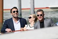<p>Ben Affleck, Jodie Comer and Matt Damon keep the laughs coming while arriving at the Venice International Film Festival on Sept. 10 in Italy.</p>