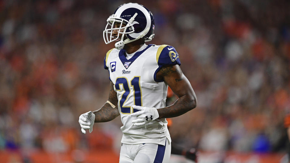The Los Angeles Rams are expected to place cornerback Aqib Talib on injured reserve. (AP)