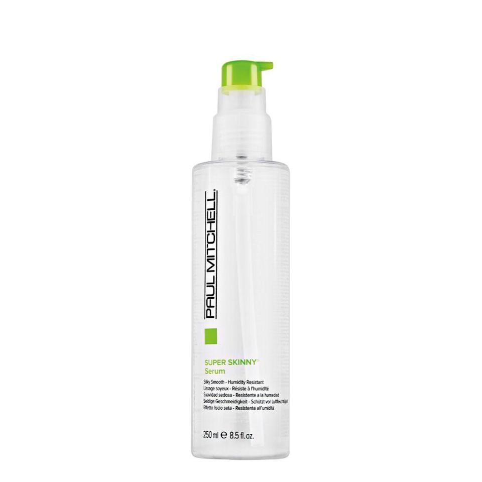 """<p><strong>Paul Mitchell</strong></p><p>ulta.com</p><p><strong>$30.00</strong></p><p><a href=""""https://go.redirectingat.com?id=74968X1596630&url=https%3A%2F%2Fwww.ulta.com%2Fulta%2Fbrowse%2FproductDetail.jsp%3FproductId%3DxlsImpprod10271295&sref=https%3A%2F%2Fwww.goodhousekeeping.com%2Fbeauty-products%2Fg34620919%2Fbest-heat-protectant-for-hair%2F"""" rel=""""nofollow noopener"""" target=""""_blank"""" data-ylk=""""slk:Shop Now"""" class=""""link rapid-noclick-resp"""">Shop Now</a></p><p>Cutting the time you blow dry your hair is one way to minimize hair damage. <strong>In our GH blow dry accelerator test, this Paul Mitchell serum decreased drying time by 8%.</strong> Bonus: It smells amazing, too!</p>"""