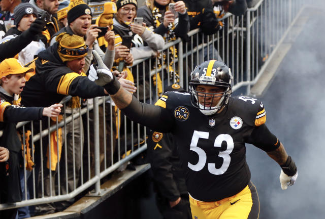 Pittsburgh Steelers center Maurkice Pouncey (53) was angry about the NFL's CBA proposal. (AP Photo/Keith Srakocic, File)