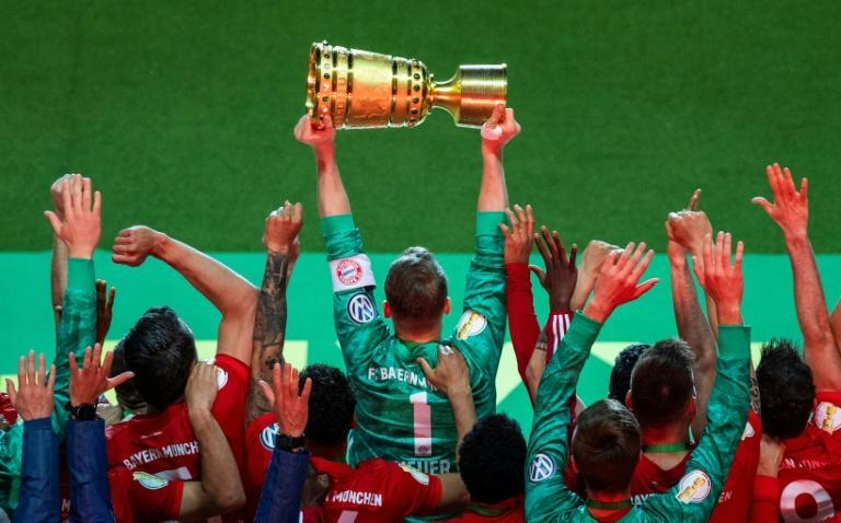 Bayern Munich are looking to defend their league and cup titles in 2019/20 (AFP Photo/John MACDOUGALL)