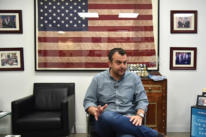 Former FBI agent Ali Soufan speaks during an interview in New York City in 2018. (Hector Retamal/AFP via Getty Images)