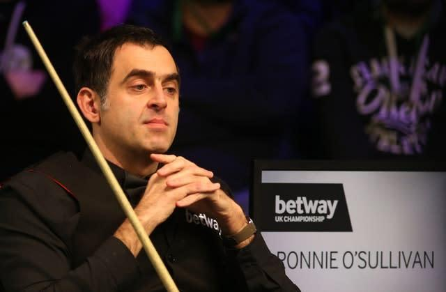 Will snooker's great entertainer Ronnie O'Sullivan still be a force in the years to come? (Nigel French/PA)