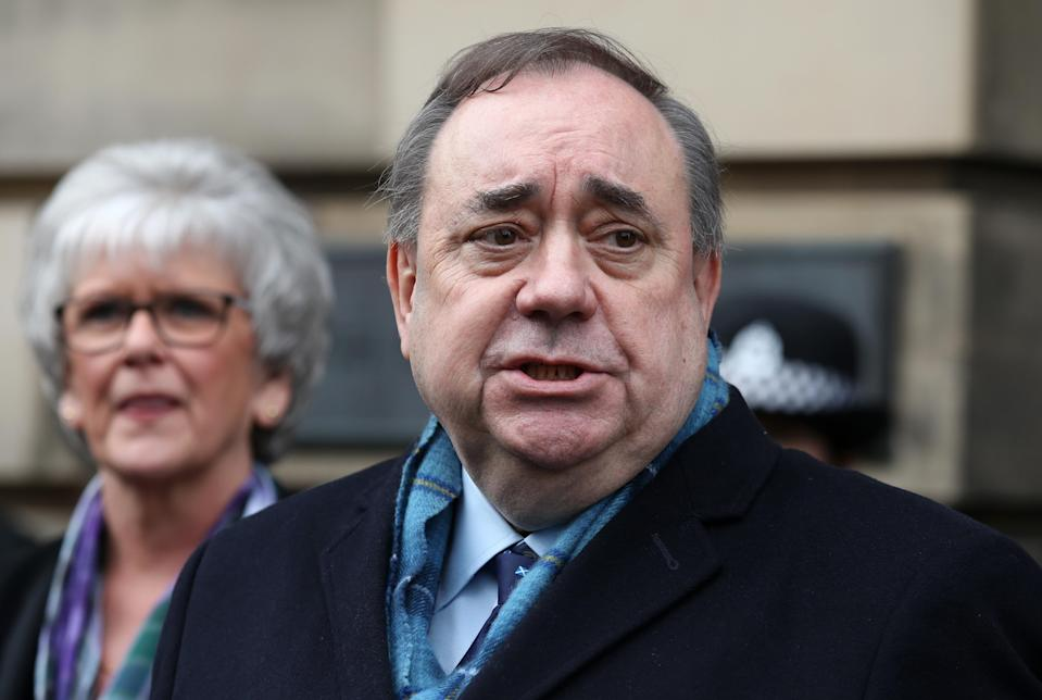 Alex Salmond is bidding to return to Holyrood as the leader of the new Alba Party (Andrew Milligan/PA)