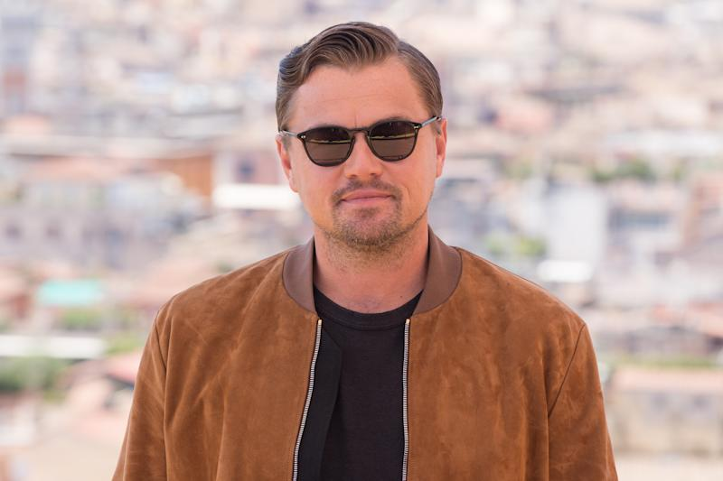 "HOTEL DE LA VILLE, ROME, ITALY - 2019/08/03: Leonardo Di Caprio during the photocall of film ""Once Upon a Time in Hollywood"". (Photo by Matteo Nardone/Pacific Press/LightRocket via Getty Images)"