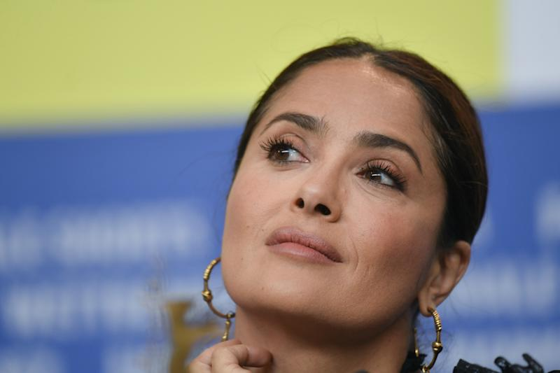 "26 February 2020, Berlin: 70th Berlinale, ""The Roads Not Taken"" - Press conference: Actress Salma Hayek. The International Film Festival takes place from 20.02. to 01.03.2020. Photo: Jens Kalaene/dpa-Zentralbild/dpa (Photo by Jens Kalaene/picture alliance via Getty Images)"