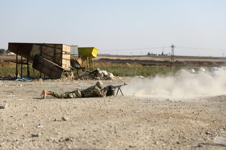 """Fighting has engulfed northern Syria since Wednesday when Ankara launched a long-threatened offensive against the Kurdish-led Syrian Democratic Forces (SDF), which it considers """"terrorists"""" linked to insurgents in Turkey (AFP Photo/Nazeer Al-khatib)"""