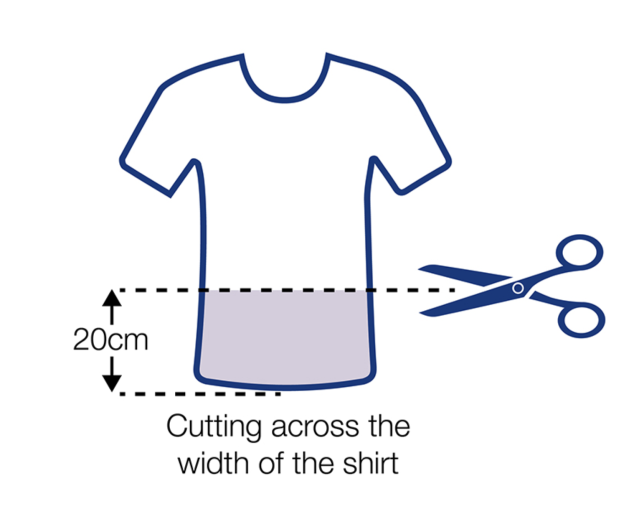Face coverings can be made from T-shirts. (Gov.uk)